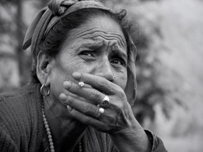 old lady in nepal